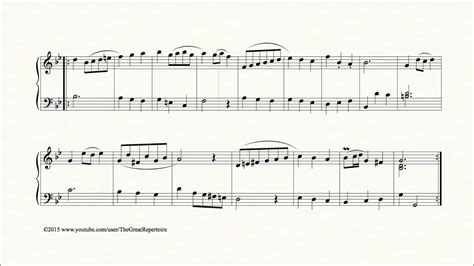 Bach, Minuet in G minor, BWV Anh 115, Piano - YouTube