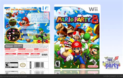 Mario Party 8 Wii Box Art Cover by numerobetically