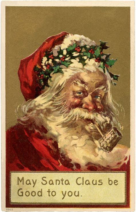 Old World Santa Holly Crown! - The Graphics Fairy