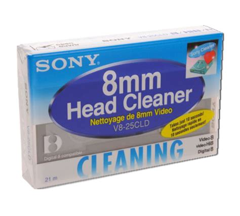 Sony 8mm Head Cleaner - Head Cleaning Cassette - Sony V8