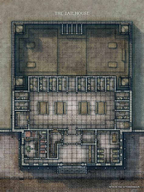 Send your players to Jail! (Jailhouse/Prison Battle Map