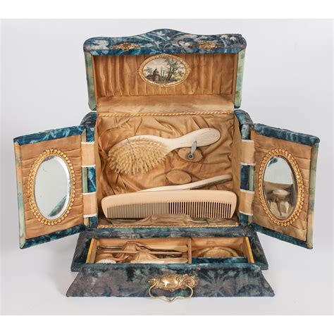 Victorian Vanity Box with Contents   Cowan's Auction House