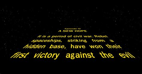 The opening text of every Star Wars crawl   In A Far Away