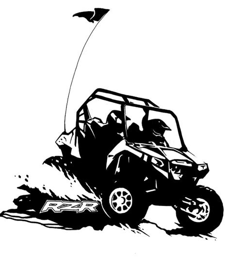 Library of atv mud vector black and white download png
