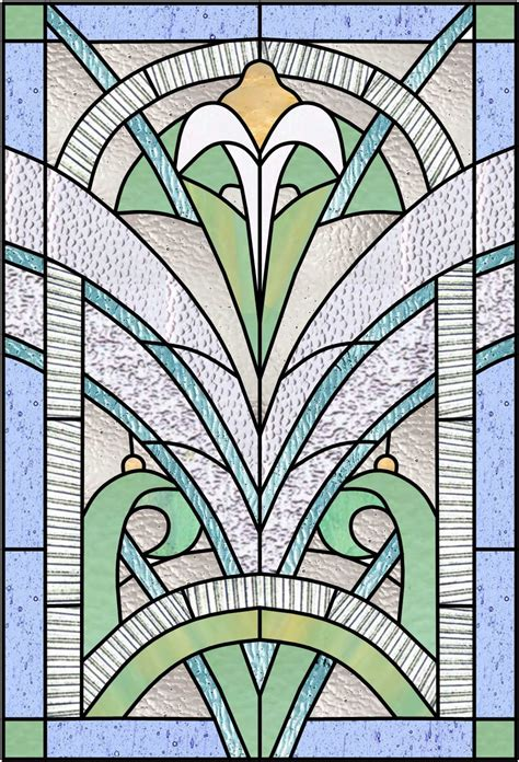 Art Deco & Nouveau Stained Glass Windows | Glas in lood