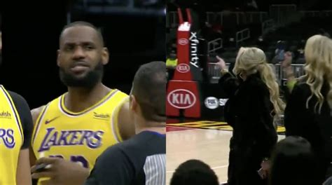 LeBron James Gets in Spat with Juliana Carlos at Lakers Game